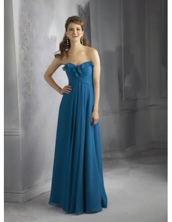 NATALIE - Bridesmaid Cheap Sheath/Column Floor length Chiffon Sweetheart Wedding party dress