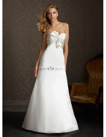 ALICE - Sweetheart A-line Cheap Chapel train Satin Wedding dress
