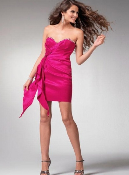 GRACE - Bridesmaid Sheath/Column Stretch satin Sweetheart Wedding party dress