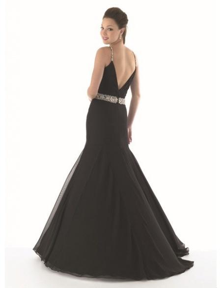AGNES - Evening dresses Trumpet/Mermaid Chiffon V-neck Occasion dress