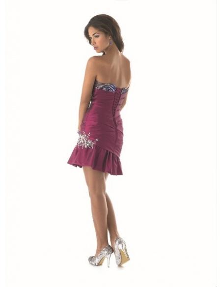 AURORA - Bridesmaid Sheath/Column Taffeta Strapless Wedding party dress