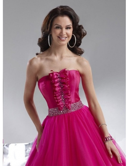 MARTA - Quinceanera dresses A-line Tulle Strapless Occasion dress