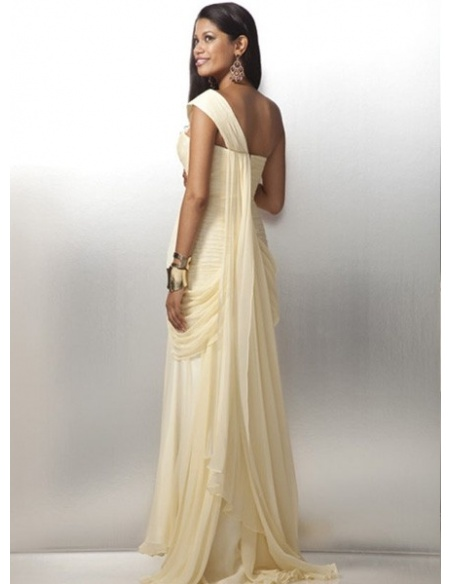NOAM - Evening dresses Sheath/Column Chiffon One shoulder Occasion dress