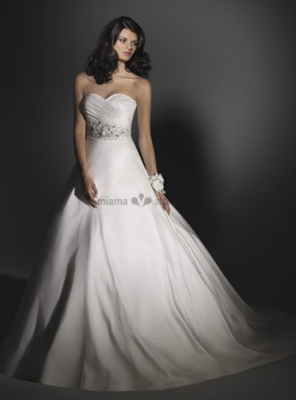 SOLEIL - A-line Sweetheart Cheap Chapel train Taffeta Wedding dress