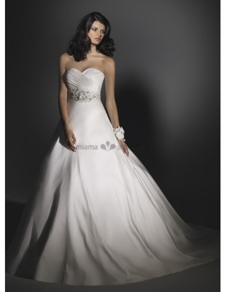 SOLEIL - A-line Sweetheart Cheap Chapel train Taffeta Wedding dress