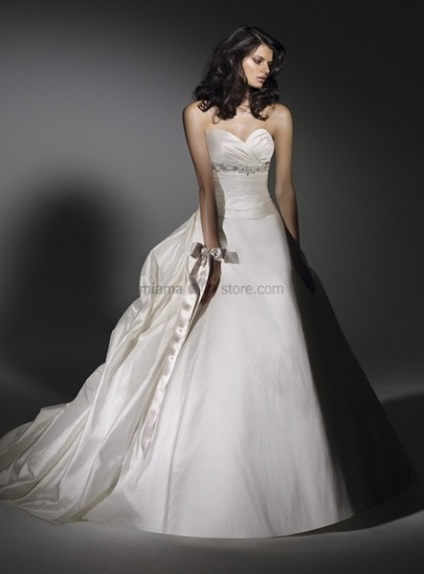 RIVA - A-line Sweetheart Chapel train Taffeta Wedding dress