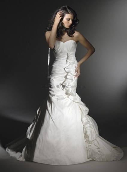 REMY - A-line Sweetheart Mermaid Chapel train Taffeta Wedding dress