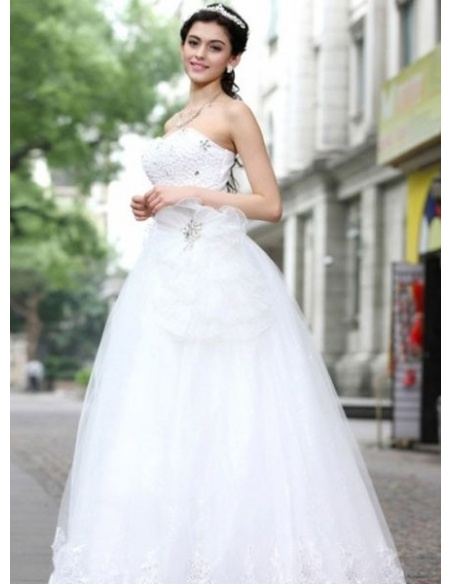 DORA - A-line Sweetheart Floor length Tulle Wedding dress