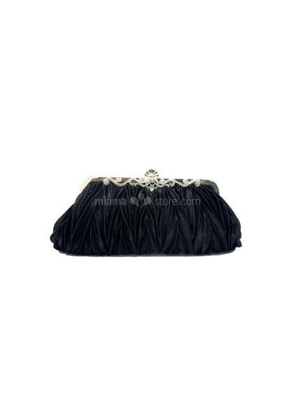 Black Stain Rhinestone Special Occasion Handbags/Clutches