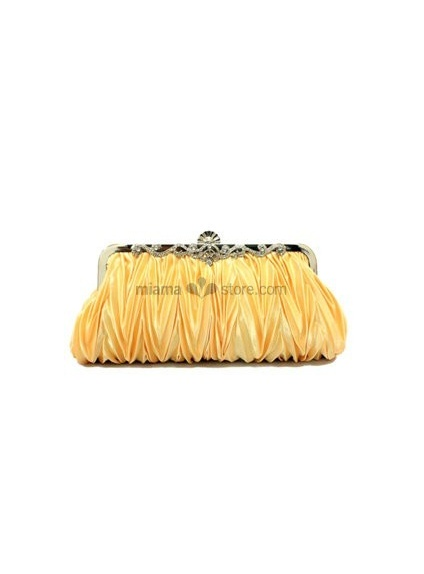 Gold Stain Rhinestone Special Occasion Handbags/Clutches