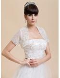 Short Sleeves Lace Bridal jacket Wedding wrap