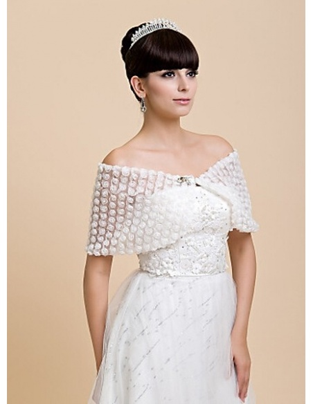 Sleeveless Lace Bridal jacket Wedding wrap