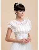 Sleeveless Lace Bridal jacket Wedding wrap