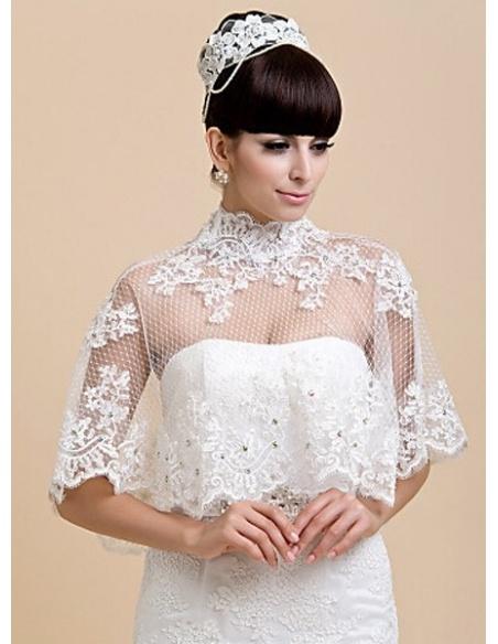 Sleeveless Tulle Bridal jacket Wedding wrap