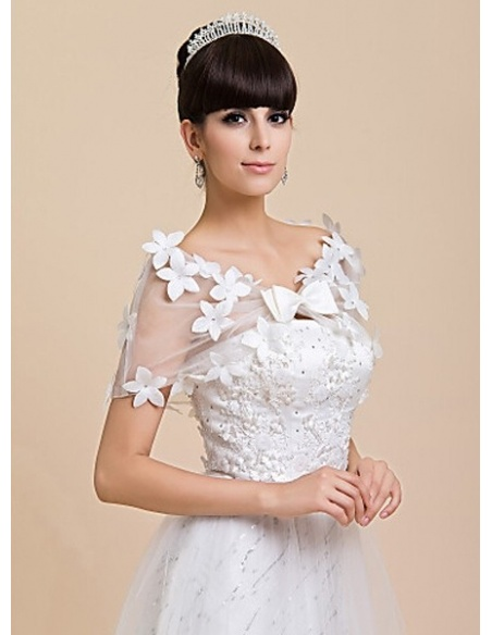 Sleeveless Tulle Bridal jacket Wedding wrap