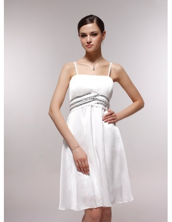 2bdb4c8f8f95 ... ABBY - Bridesmaid Cheap Princess Knee length 30D Chiffon Square neck  Wedding Party Dress 2