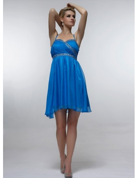 RIMMA - Bridesmaid Cheap Princess Knee length 30D Chiffon Sweetheart Wedding Party Dress