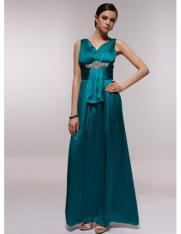 KATYA - Bridesmaid Cheap Princess Floor length 30D Chiffon V-neck Wedding Party Dress