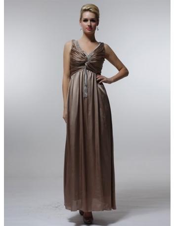 MICHELLE - Bridesmaid Cheap Princess Floor length 30D Chiffon V-neck Wedding Party Dress