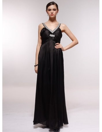 JULIA - Bridesmaid Cheap Princess Floor length 30D Chiffon V-neck Wedding Party Dress