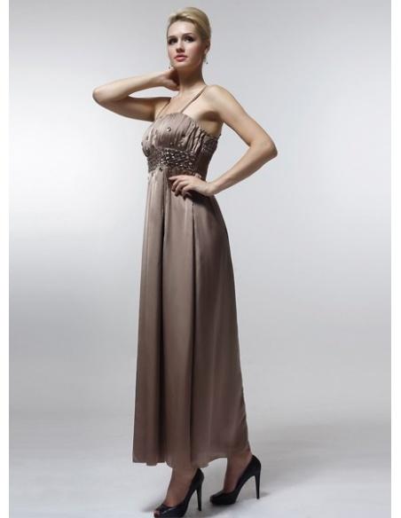 KSENIYA - Bridesmaid Cheap Princess Floor length 30D Chiffon Square neck Wedding Party Dress