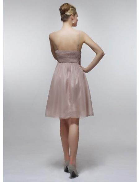 CORNELIA - Bridesmaid Cheap Princess Knee length 30D Chiffon V-neck Wedding Party Dress
