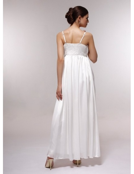 DALE - Bridesmaid Cheap Princess Floor length 30D Chiffon Square neck Wedding Party Dress