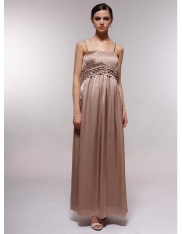 EDWINA - Bridesmaid Cheap Princess Floor length 30D Chiffon Square neck Wedding Party Dress
