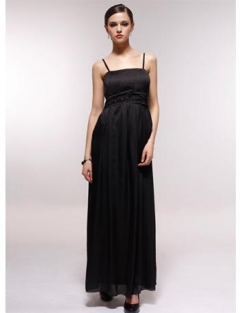 EILEEN - Bridesmaid Cheap Princess Floor length 30D Chiffon Square neck Wedding Party Dress