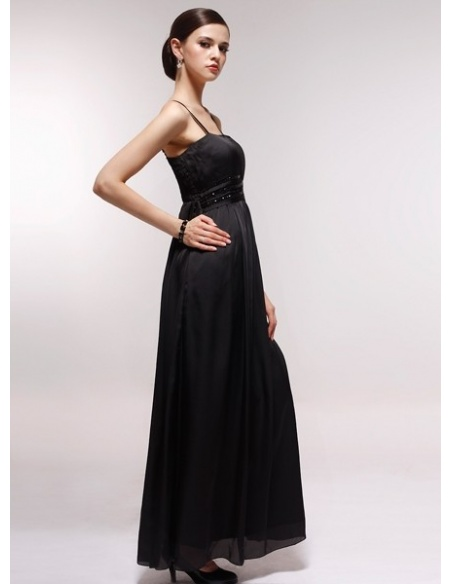 EILEEN - Bridesmaid Cheap Princess Floor length 30D Chiffon Square neck Wedding Party Dress