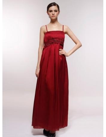 ELMA - Bridesmaid Cheap Princess Floor length 30D Chiffon Square neck Wedding Party Dress