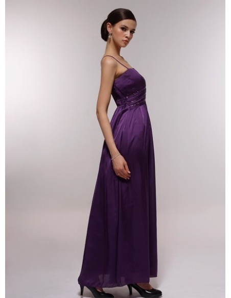 ELSA - Bridesmaid Cheap Princess Floor length 30D Chiffon Square neck Wedding Party Dress