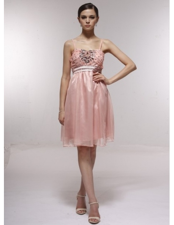 ELVA - Bridesmaid Cheap Princess Knee length 30D Chiffon Sweetheart Wedding Party Dress