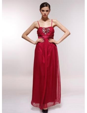 ERIN - Bridesmaid Cheap Princess Floor length 30D Chiffon Sweetheart Wedding Party Dress