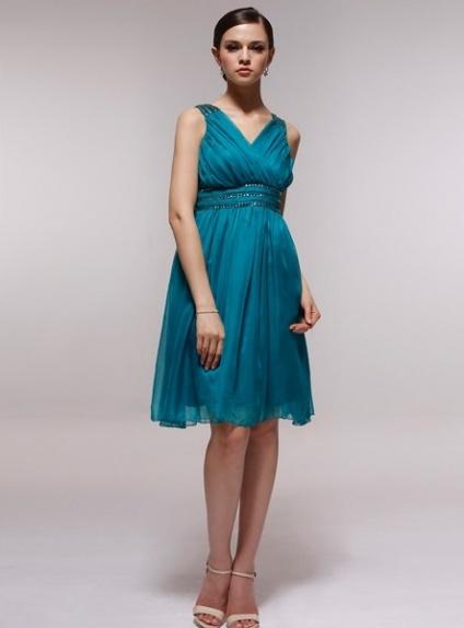 FAITHE - Bridesmaid Cheap Princess Knee length 30D Chiffon Halter Wedding Party Dress