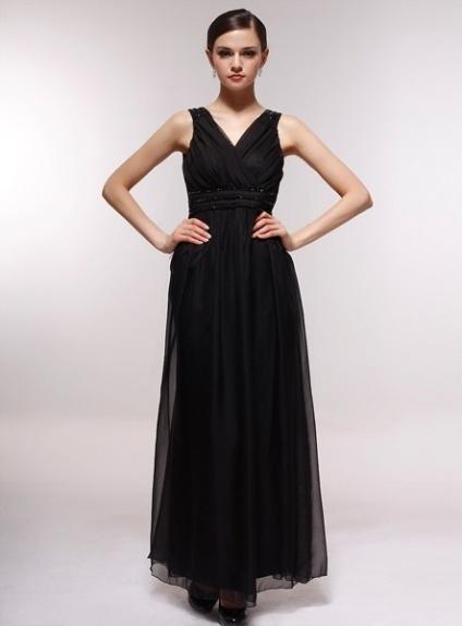 FLORENCE - Bridesmaid Cheap Princess Floor length 30D Chiffon Halter Wedding Party Dress