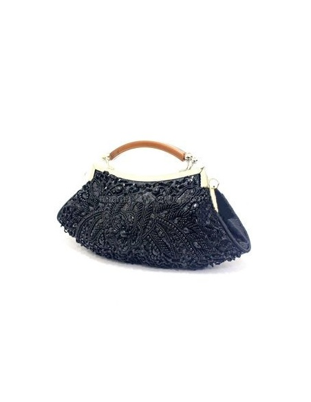 Black Stain Beading Special Occasion Handbags/Clutches