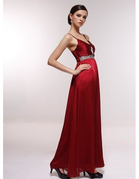 GEORGIA - Bridesmaid Cheap Princess Floor length 30D Chiffon V-neck Wedding Party Dress