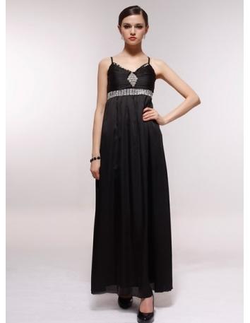 GERALDINE - Bridesmaid Cheap Princess Floor length 30D Chiffon V-neck Wedding Party Dress