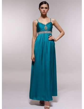 AGATHA - Bridesmaid Cheap Princess Floor length 30D Chiffon V-neck Wedding Party Dress