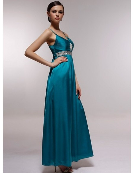 AGATHA - Bridesmaid Cheap Princess Floor length 30D Chiffon V-neck Wedding Party Dress