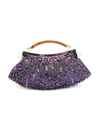 Grape Stain Beading Special Occasion Handbags/Clutches