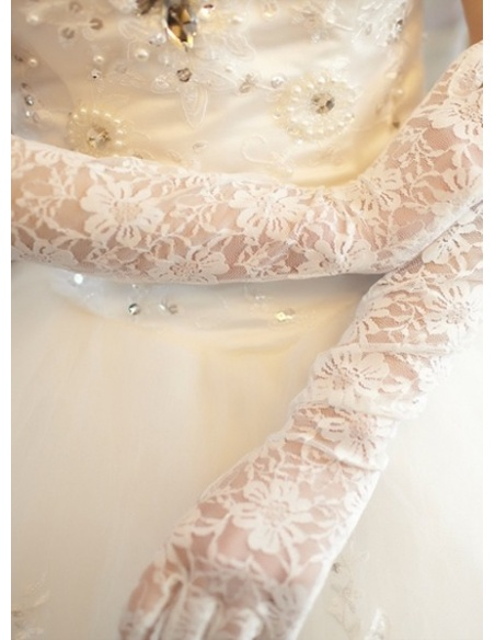 Lace Elbow length Wedding gloves