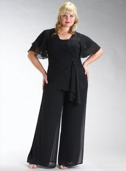 SUMMER - Pant suit Sheath/Column Ankle length Chiffon Square neck Wedding Party Dress