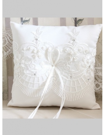 Picture color Rayon Satin Wedding Ring Pillow