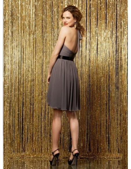 TAMARA - Bridesmaid Sheath/Column Knee length Chiffon Halter Wedding Party Dress