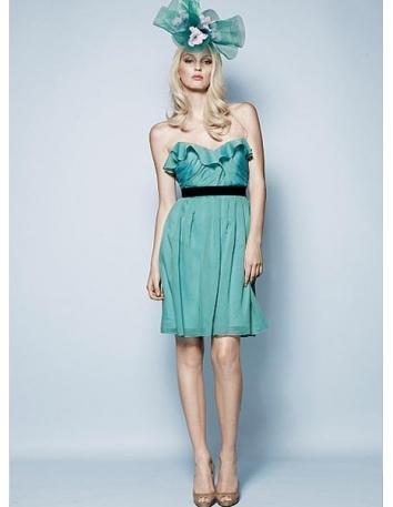 BELLA - Bridesmaid Sheath/Column Knee length Chiffon Sweetheart Wedding Party Dress