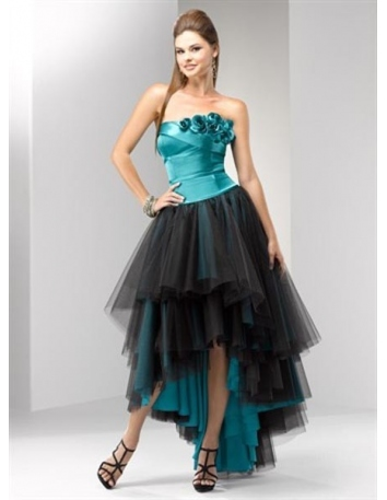 MICHELLE - Cocktail dresses A-line Asymmetrical Sequined Strapless Occasion dress