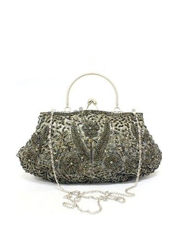 Gray Stain Beading Special Occasion Handbags/Clutches