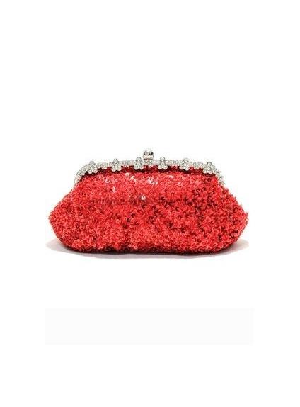 Red Stain Rhinestone Wedding Handbags/Clutches